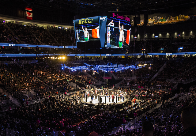 Prelim fights start during UFC 207 at T-Mobile Arena on Friday, Dec. 30, 2016, in Las Vegas. Benjamin Hager/Las Vegas Review-Journal