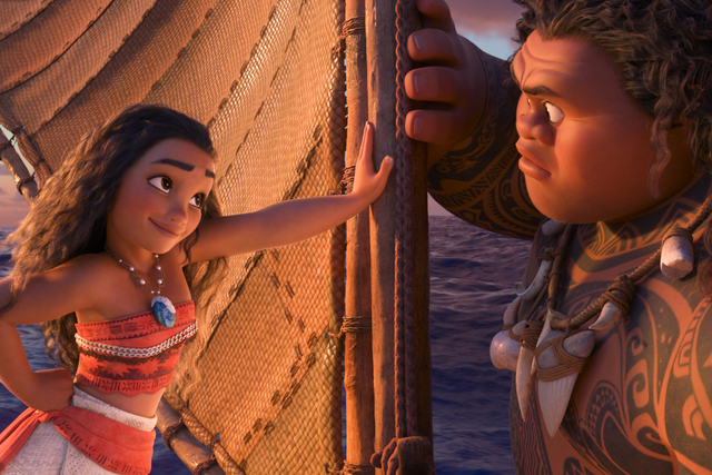 Tenacious teenager Moana (voice of Auliʻi Cravalho) recruits a demigod named Maui (voice of Dwayne Johnson) to help her become a master wayfinder and sail out on a daring mission to save her peop ...
