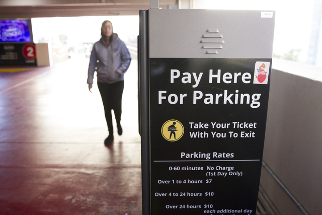 A parking payment machine at the New York-New York hotel-casino on Wednesday, Dec. 28, 2016, in Las Vegas. Erik Verduzco/Las Vegas Review-Journal Follow @Erik_Verduzco