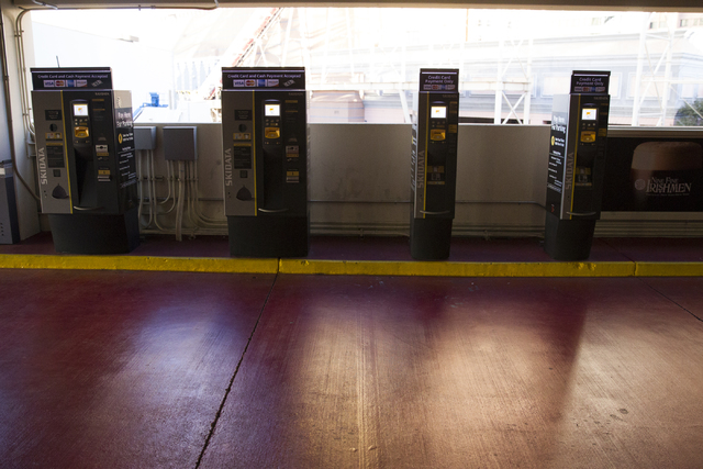 Parking payment machines at the New York-New York hotel-casino on Wednesday, Dec. 28, 2016, in Las Vegas. Erik Verduzco/Las Vegas Review-Journal Follow @Erik_Verduzco