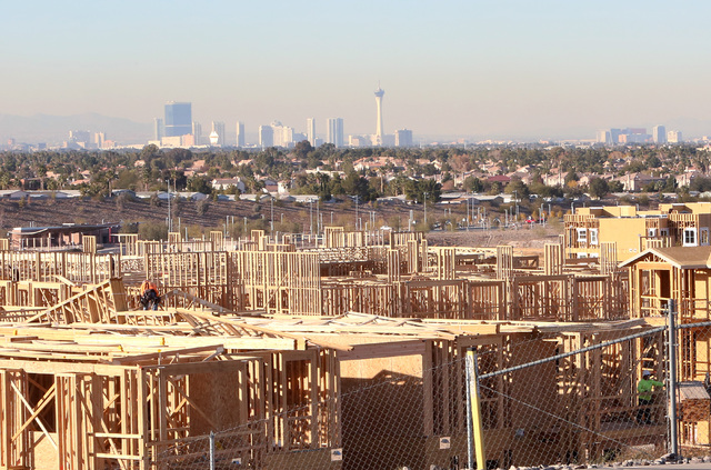 Apartment complex under construction on Wigwam Parkway near Stephanie Street and Interstate 215 in Henderson on Tuesday, Dec. 20, 2016. (Bizuayehu Tesfaye/Las Vegas Review-Journal)@bizutesfaye