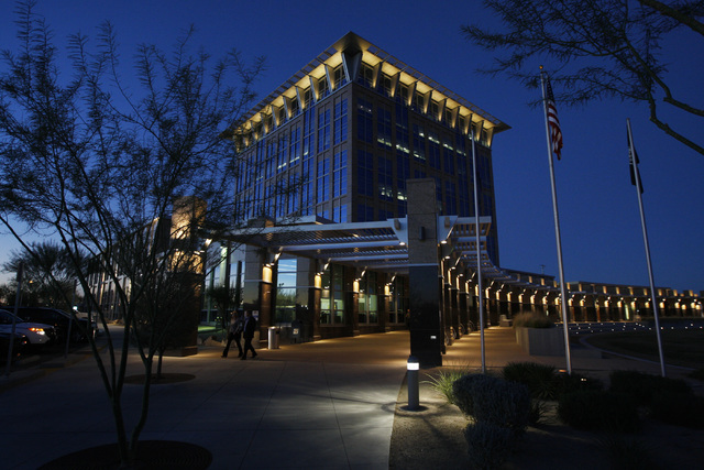 The North Las Vegas City Hall is seen Wednesday, Oct. 29, 2014, in North Las Vegas. (Sam Morris/Las Vegas Review-Journal)