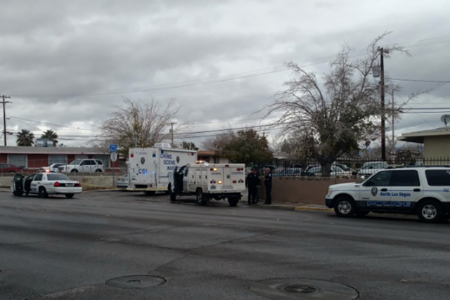 One man was killed and three others injured when a fight broke out early Saturday morning at a house on the 2800 block of North Daley Street in North Las Vegas. (Max Michor/Las Vegas Review-Journal)