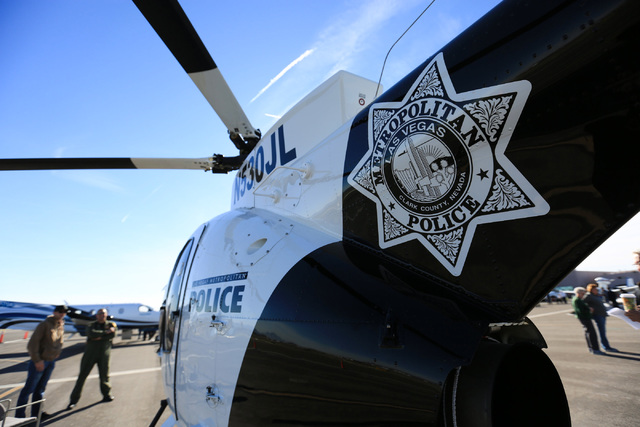 The Las Vegas Metropolitan Police Department shows one of their MD 530F helicopters during an open house at the North Las Vegas Airport on Saturday, Dec. 10, 2016. Brett Le Blanc/Las Vegas Review- ...