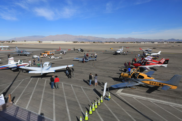 North Las Vegas Airport hosts an open house and allows the public to tour planes on the tarmac on Saturday, Dec. 10, 2016. Brett Le Blanc/Las Vegas Review-Journal Follow @bleblancphoto