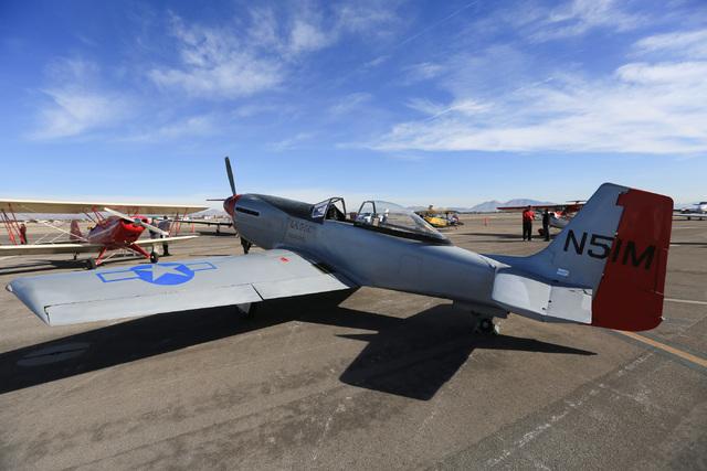 A P-51D sits on display at the North Las Vegas Airport on Saturday, Dec. 10, 2016. Brett Le Blanc/Las Vegas Review-Journal Follow @bleblancphoto