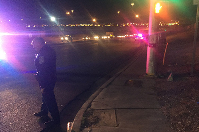 Scene of a homicide in North Las Vegas on Friday, Dec. 30, 2016, in the area of Lake Mead Boulevard and Losee Road (Rachel Crosby/Las Vegas Review-Journal)
