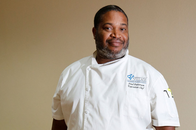 Opportunity Village executive chef Frederick Patterson at Opportunity Village in Las Vegas, Thursday, Dec. 1, 2016. (Chitose Suzuki/Las Vegas Review-Journal) @chitosephoto