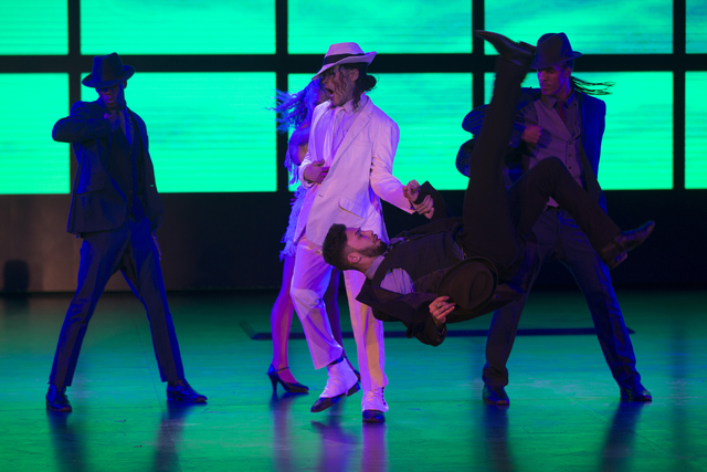 """The first show at the Parisian, """"Thriller Live,"""" performs during a press conference at the eve of the grand opening of the Parisian on Tuesday, Sept. 13, 2016, in Macau. Erik Verduzco/Las Vegas Re ..."""
