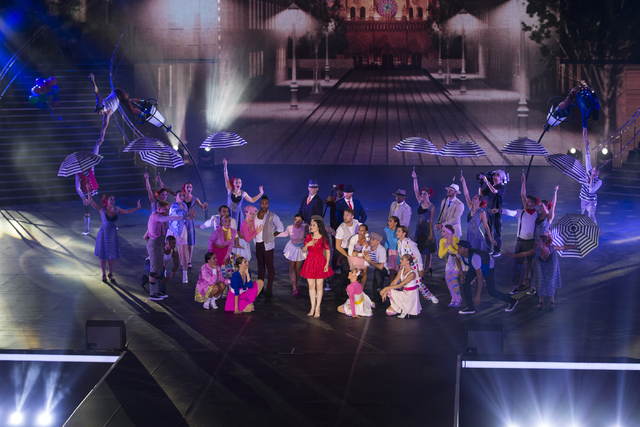 Performers put up a show during the grand opening ceremony for Sands China Ltd. new resort, Parisian, on Tuesday, Sept. 13, 2016, in Macau. Erik Verduzco/Las Vegas Review-Journal Follow @Erik_Verduzco