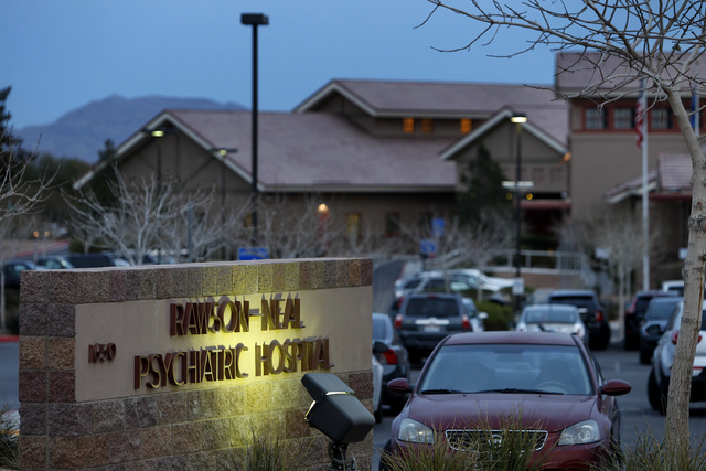 The Rawson-Neal Psychiatric Hospital is seen in Las Vegas Friday, Jan. 24, 2014. The outpatient clinic at the hospital closed down. (John Locher/Las Vegas Review-Journal)