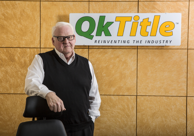 """Richard Lee is co-founder of QkTitle and largely credited for the """"Manhattanization"""" of Las Vegas' high-rise boom the last decade. Photo taken on Thursday, Dec. 15, 2016, at Q ..."""