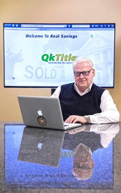 """Richard Lee is co-founder of QkTitle and largely credited for the """"Manhattanization"""" of Las Vegas' high-rise boom the last decade. Photo taken on Thursday, Dec. 15, 2016, at QkTitle, in Las  ..."""