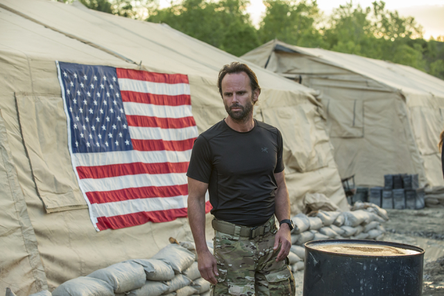 "Richard 'Rip' Taggart (Walton Goggins) from HISTORY's ""SIX"" Photo by HISTORY"