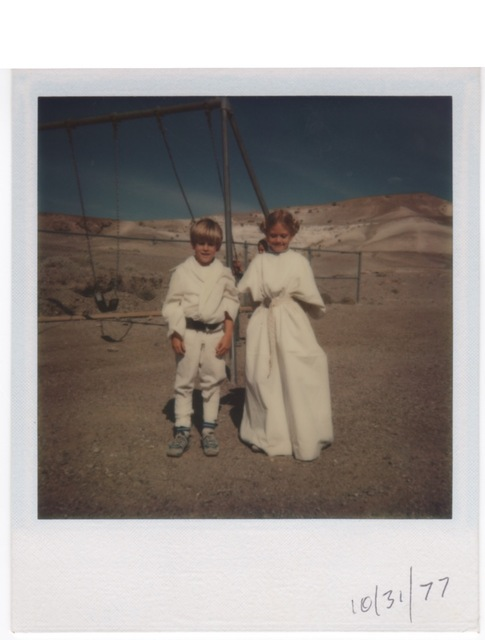 Death Valley Elementary School classmates Joe Weber and Andrea Wickman pose in the Luke Skywalker and Princess Leia costumes they wore for Halloween 1977. Early that same year, they were among sev ...