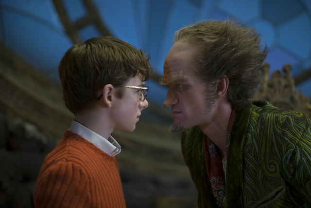 "Louis Hynes, Neil Patrick Harris in ""A Series Of Unfortunate Events."" Joe Lederer/Netflix"