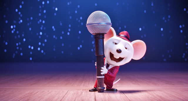 "Seth MacFarlane is Mike, a mouse who croons as smoothly as he cons, in the event film ""Sing."" (Illumination Entertainment/Universal Pictures)"