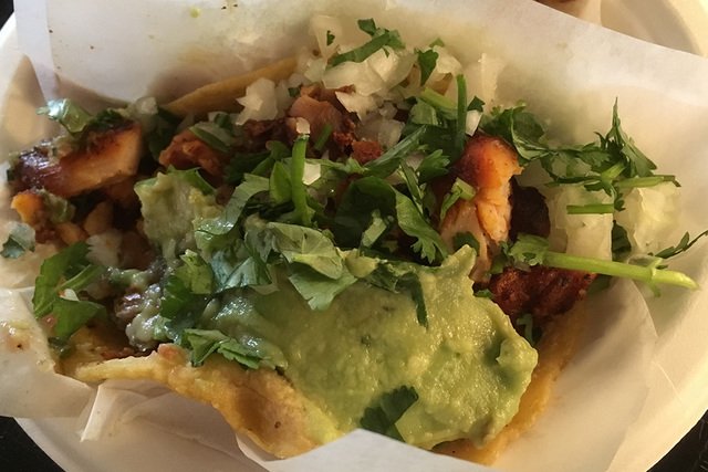 Ask for two chicken tacos with everything and the toppings will include onions, cilantro, hot sauce and guacamole. BRIAN SANDFORD/VIEW