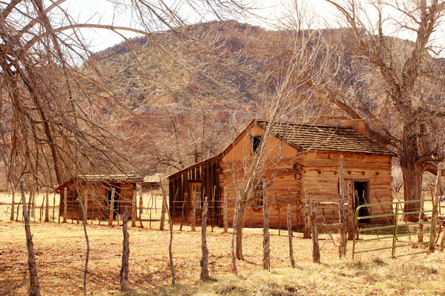 One of the few structures left at the old Grafton Ghost Town in Southern Utah.  Just before you reach Zion National Park. (Thinkstock)