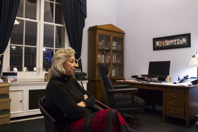 U.S. Rep. Dina Titus, D-Nev., at her office on Capitol Hill in Washington D.C. on Tuesday, Dec. 6, 2016. (Chase Stevens/Las Vegas Review-Journal) @csstevensphoto