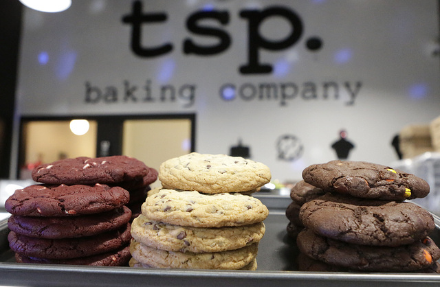 Assorted cookies are displayed at TSP Baking on 6120 N. Decatur Blvd. on Thursday, Dec. 22, 2016, in Las Vegas. (Bizuayehu Tesfaye/Las Vegas Review-Journal)@bizutesfaye