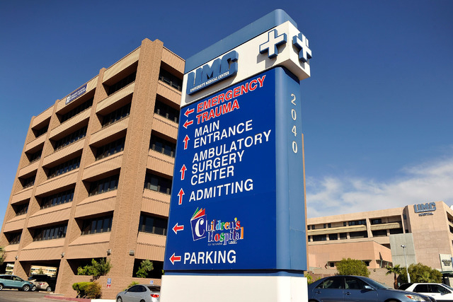 The man was taken to the University Medical Center, where he died.  (Las Vegas Review-Journal)