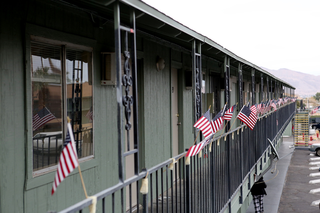 Veterans Village adds another 204 units of housing, a crisis intervention center and a food pantry for homeless veterans in downtown Las Vegas on on Thursday, Dec.15, 2016. (Michael Quine/Las Vega ...