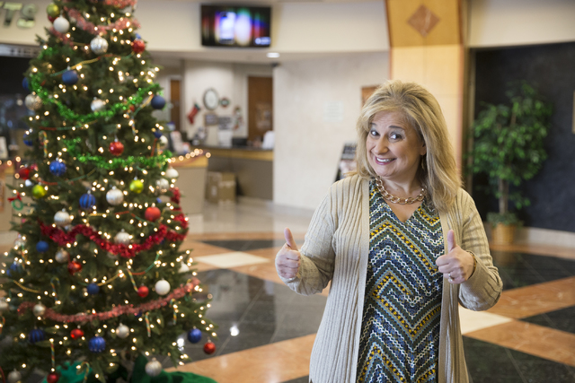 Paulette Anderson, Las Vegas Chapter Director of the Speedway Children's Charities, at the Las Vegas Motor Speedway on Tuesday, Dec. 13, 2016, in Las Vegas. (Erik Verduzco/Las Vegas Review-Journal ...