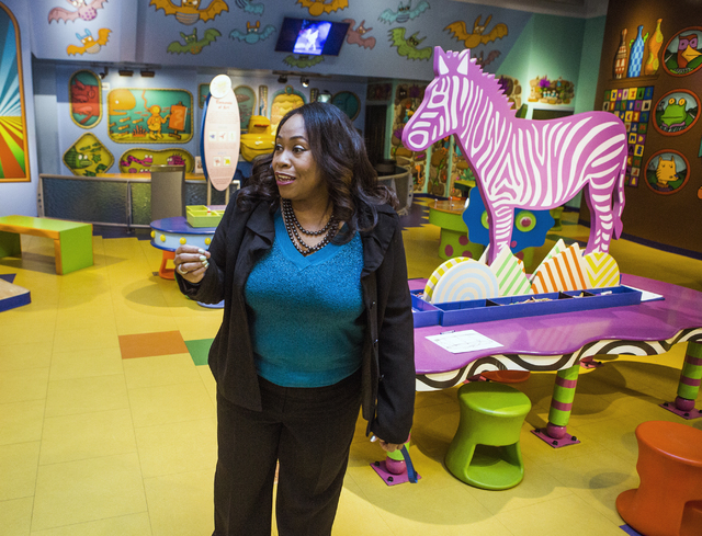 Tifferney White, CEO and president of Discovery Children's Museum, 360 Promenade Place, discusses an exhibit on Friday, Dec. 16, 2016. Jeff Scheid/Las Vegas Review-Journal Follow @jeffscheid
