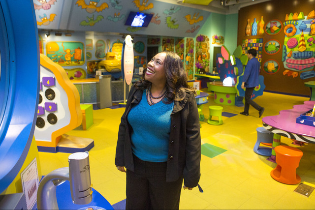 Tifferney White, CEO and president of Discovery Children's Museum, 360 Promenade Place, views an exhibit on Friday, Dec. 16, 2016. Jeff Scheid/Las Vegas Review-Journal Follow @jeffscheid