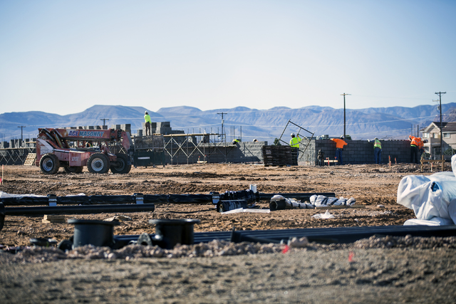Construction continues on the new Wal-Mart store at Blue Diamond Road and Rainbow Boulevard on Tuesday, Dec. 28, 2016. Jeff Scheid/Las Vegas Review-Journal Follow @jeffscheid