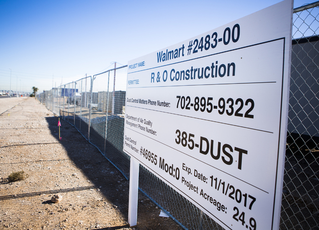 The new Wal-Mart store at Blue Diamond Road and Rainbow Boulevard sits on 24.9 acres. Jeff Scheid/Las Vegas Review-Journal Follow @jeffscheid