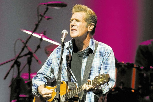 Glenn Frey performs with The Eagles at the MGM Grand Garden Arena Saturday, April 24, 2010. (Kevin Cannon/Las Vegas Review-Journal)