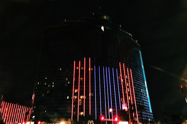 Power in some parts of the Rio went out as a result of a fire on Wednesday, Dec. 28, 2016. (Rio Lacanlale/Las Vegas Review-Journal)
