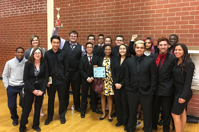"""Silverado High School competed in the """"We the People"""" competition Saturday, Dec. 10, 2016 at Valley High School and was one of nine schools advancing to the state finals in February. (Jeannie Rose ..."""