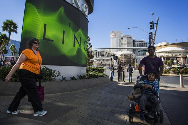 People walk at The Linq 3535 South Las Vegas Boulevard, on Wednesday, Jan.14, 2015.  (Jeff Scheid/Las Vegas Review-Journal)