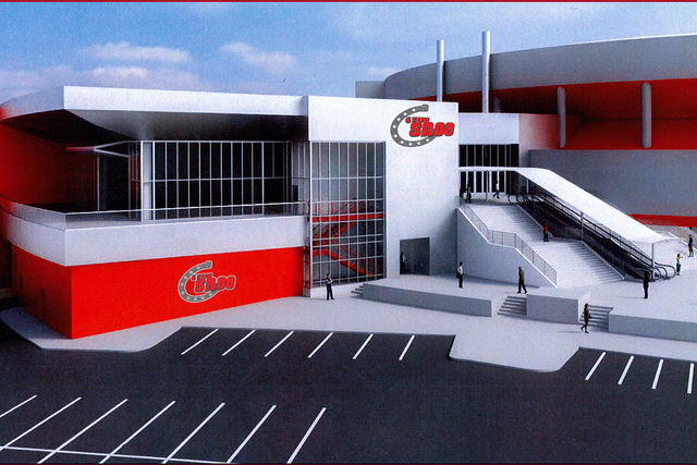 An artist's rendering of The Shoe, a 36,000-square-foot addition off the northwest end of the Thomas & Mack Center that will further enhance the nightly WNFR experience this year. (Special to  ...