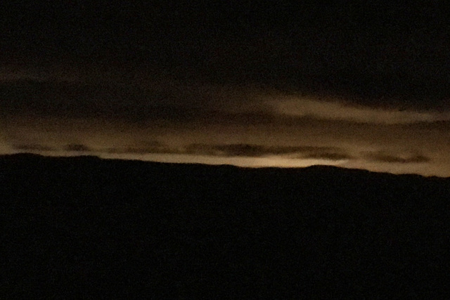 The Las Vegas lights could be seen near midnight at Spring Mountain Ranch State Park, but no fireworks were audible. BRIAN SANDFORD/VIEW