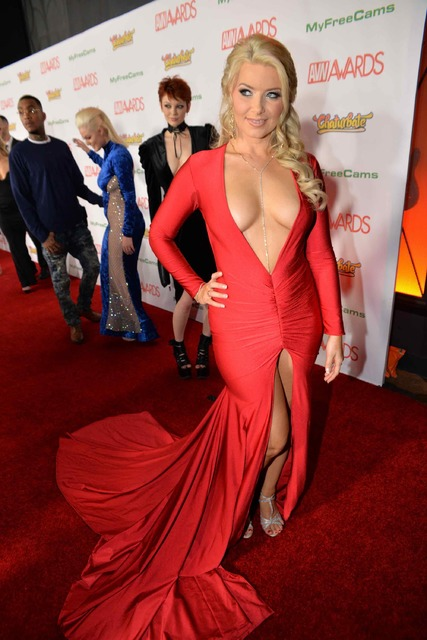 The 2017 AVN Awards red carpet Saturday, Jan. 21, 2017, at The Hard Rock Hotel in Las Vegas. (Hew Burney)