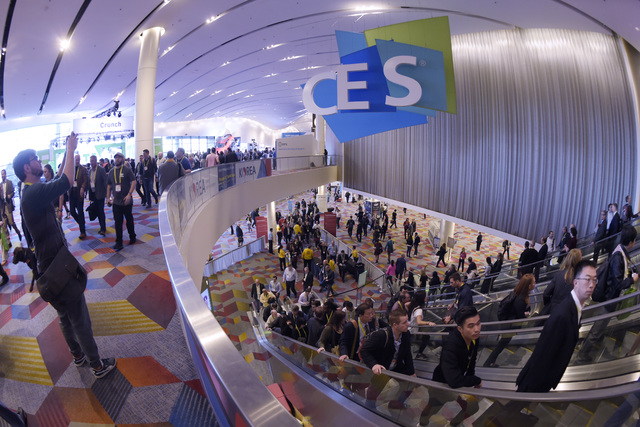This is a general view of a hallway during the first day of CES Thursday, Jan. 5, 2017, at the Sands Convention Center. Sam Morris/Las Vegas News Bureau