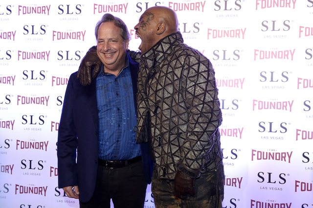 "Mike Tyson and Jon Lovitz arrive for the premier Lovitz and Dana Carvey's residency ""Reunited"" at The Foundry at SLS in Las Vegas Friday, Jan. 6, 2017. Sam Morris/Las Vegas News  ..."