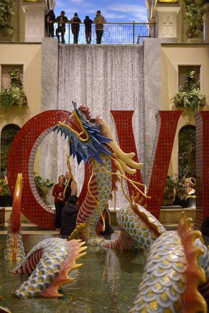 The atrium in the Palazzo is seen decorated for Chinese New Year Friday, Jan. 20, 2017. (Sam Morris/Las Vegas News Bureau)