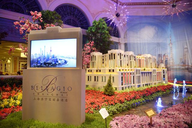 A model of the soon-to-open Bellagio Shanghai is seen in the  Bellagio Conservatory Friday, Jan. 20, 2017. (Sam Morris/Las Vegas News Bureau)