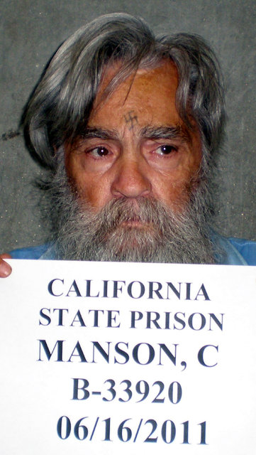 File Photo: Convicted mass murderer Charles Manson is shown in this handout picture from the California Department of Corrections and Rehabilitation dated June 16, 2011 and released to Reuters Apr ...