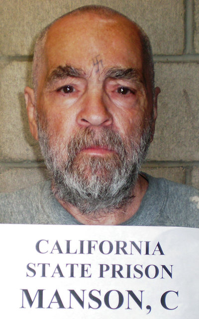 Convicted murderer Charles Manson is shown in this handout image released March 18, 2009 from Corcoran State Prison in California. (Corcoran State Prison/Handout/Reuters)