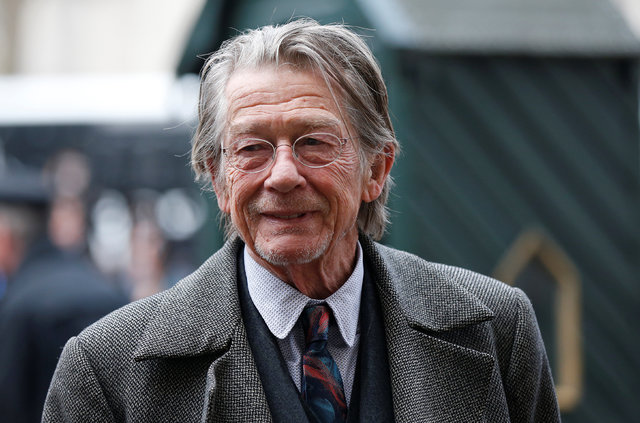 Actor John Hurt arrives for a memorial service for actor and director Richard Attenborough at Westminster Abbey in London March 17, 2015. (REUTERS/Suzanne Plunkett)