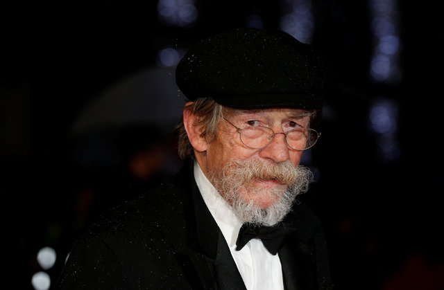 "Actor John Hurt arrives for the European premiere of the film ""The Imitation Game"" at the BFI opening night gala at Leicester Square in London October 8, 2014. (REUTERS/Suzanne Plunkett)"