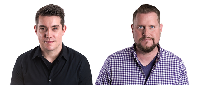 """""""The Dave & Mahoney Morning Show,"""" featuring Dave Farra, left, and Jason Mahoney returns to X107.5-FM on Feb. 6. (Courtesy photo)"""