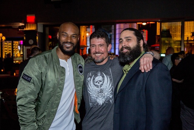 Tyson Beckford, left, at Hyde Bellagio on Friday, Jan. 20, 2017, in Las Vegas. (Hyde Bellagio)