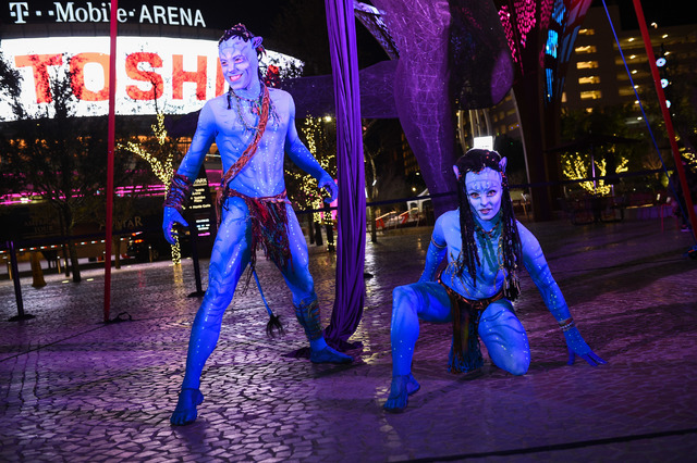 """A preview of Cirque du Soleil's """"Toruk: The First Flight"""" during Party at The Park at The Park on Tuesday, Jan. 17, 2017, in Las Vegas. (Al Powers)"""